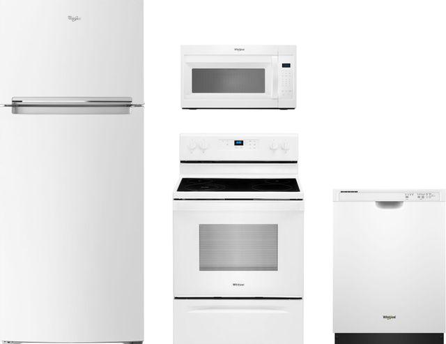 Whirlpool® 4 Piece White Kitchen Package-WHKITWFE320M0JW