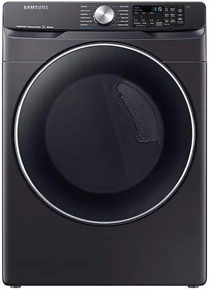 Samsung 7.5 Cu. Ft. Fingerprint Resistant Black Stainless Steel Front Load Gas Dryer-DVG45R6300V