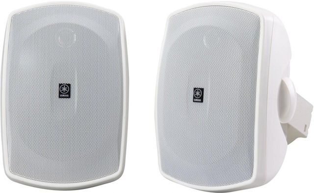 Yamaha® White Natural Sound All-Weather Outdoor Speakers-NS-AW190WH