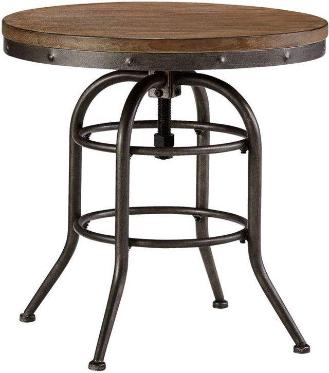 Signature Design by Ashley® Vennilux Grayish Brown Round End Table-T500-726