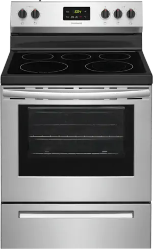"""Frigidaire® 30"""" Stainless Steel Freestanding Electric Range-FCRE305CAS"""