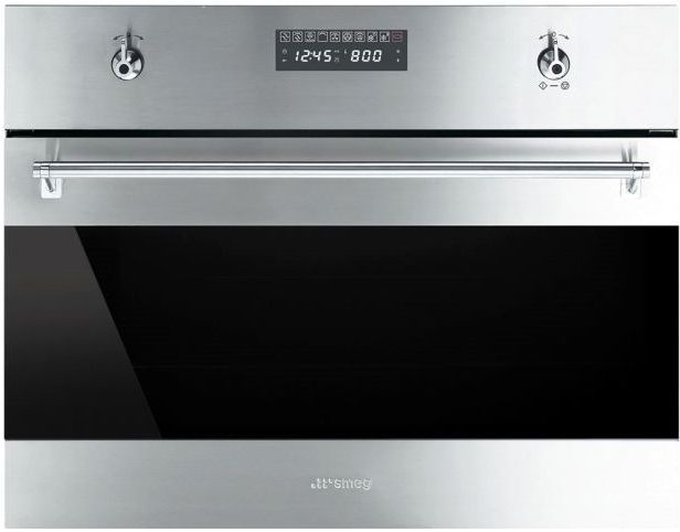 """Smeg 24"""" Classic Built-In Speed Oven-Stainless Steel-SU45MCX1"""