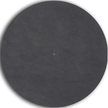Pro-Ject Leather it Gray Leather Platter Mat-Leather it Gray
