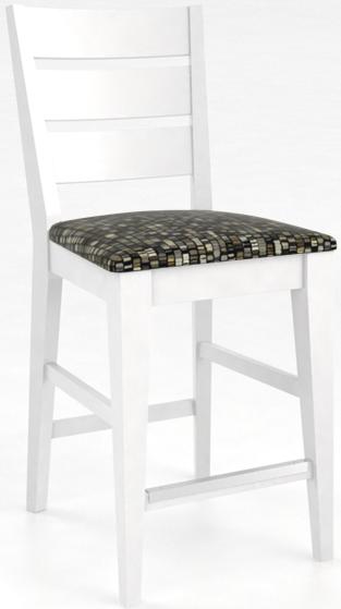Tabouret en bois, blanc, Canadel®-SNF09023UN50M24F