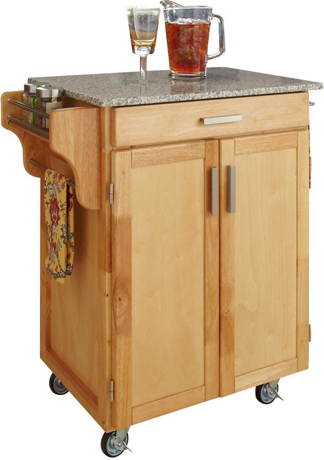 Homestyles Cuisine Cart Natural Salt And Pepper Granite Kitchen Cart 9001 0013 Colder S Furniture Appliances And Mattresses
