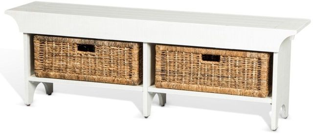 """Sunny Designs Accents River Birch 55"""" Short Bench-2025RB-S"""