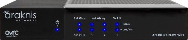 SnapAV Araknis Networks® 110 Series Black Single-WAN Gigabit VPN Router with Wi-Fi-AN-110-RT-2L1W-WIFI