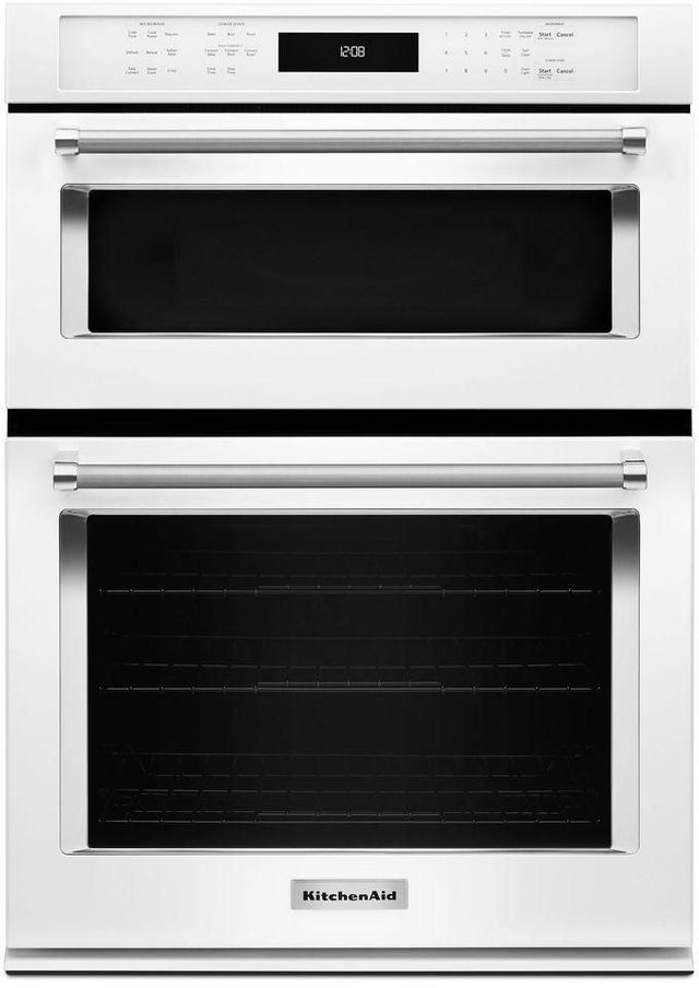 """KitchenAid® 30"""" White Electric Oven/Microwave Combo Built In-KOCE500EWH"""