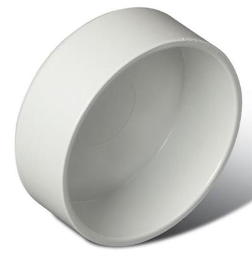 "Broan® 2"" White Tubing Cap-V134"