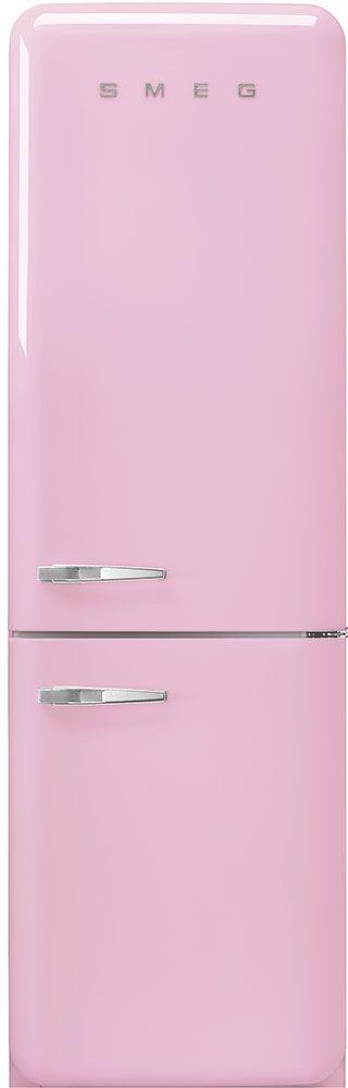 Smeg 50's Retro Style Aesthetic 11.69 Cu. Ft. Pink Bottom Freezer Refrigerator-FAB32URPK3