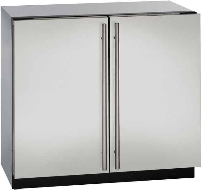 U-Line® 3000 Series 6.9 Cu. Ft. Stainless Steel Under the Counter Refrigerator-3036RRS-00B