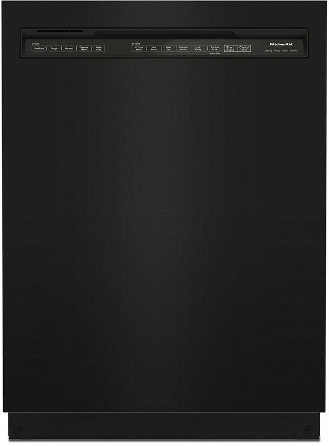 """KitchenAid® 24"""" Black Built In Dishwasher-KDFE104KBL"""