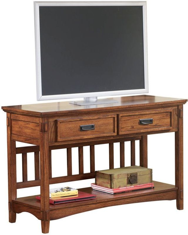 Signature Design by Ashley® Cross Island Medium Brown Console Sofa Table-T719-4