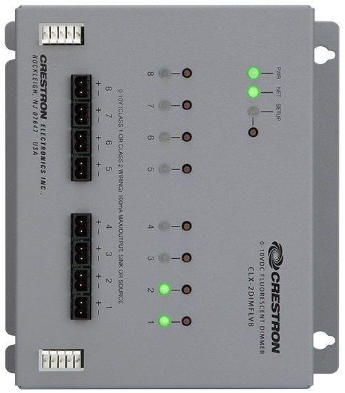 Crestron® 8 Channel 0-10V Dimmer Module-CLX-2DIMFLV8