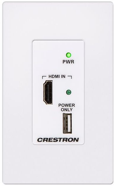 Crestron® DM Lite – HDMI® Over CATx Transmitter-White-HD-TX-101-C-1G-E-W-T