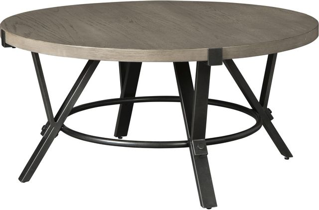Signature Design by Ashley® Zontini White Oak Round Cocktail Table-T206-8