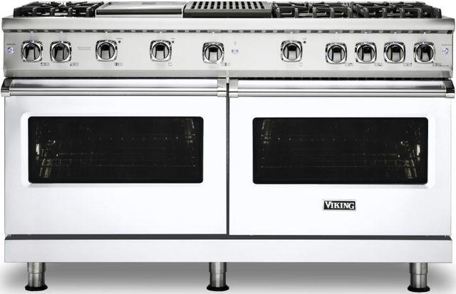 "Viking® Professional 5 Series 60"" Pro Style Gas Range-White-VGR5606GQWH"
