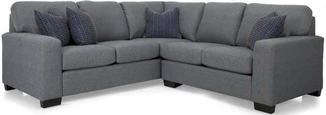 Decor-Rest® Furniture LTD 2A3 Alessandra Connections 2 Piece Gray Sectional-2A3-31+06 GRAY