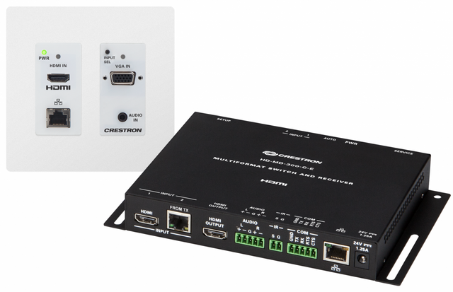 Crestron® HD Scaling Auto-Switcher And Extender 300-White-HD-MD-300-C-E-W