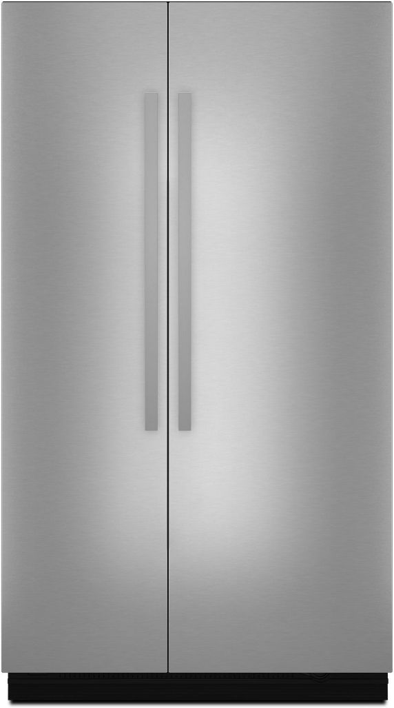 """JennAir NOIR™ 48"""" Stainless Steel Fully Integrated Built-In Side-by-Side Refrigerator Panel-Kit-JBSFS48NHM"""