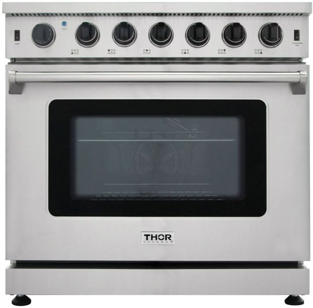 "Thor Kitchen® Professional 36"" Stainless Steel Pro Style Gas Range-LRG3601U"