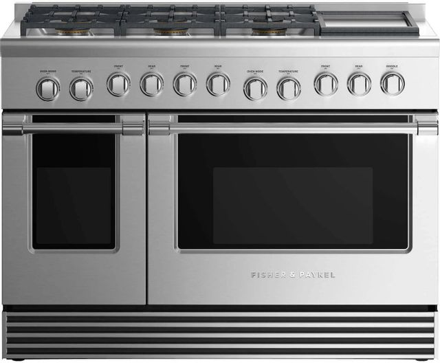 """Fisher & Paykel 48"""" Pro Style Gas Range-Stainless Steel-RGV2-486GDN N"""
