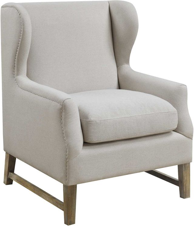 Coaster® Cream Wing Back Accent Chair-902490