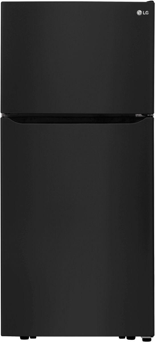 LG 20.2 Cu. Ft. Smooth Black Top Freezer Refrigerator-LTCS20020B