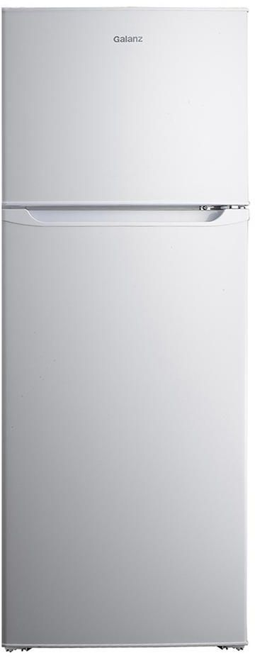 Galanz 7.6 Cu. Ft. White Top Mount Freezer Refrigerator-GLR76TWEE
