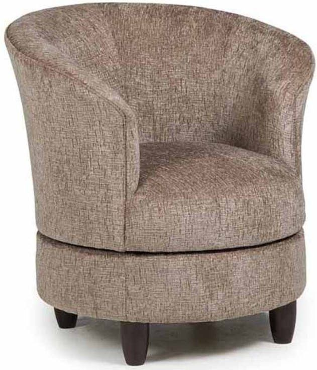 Best Home Furnishings Dysis Espresso Swivel Chair-2848E