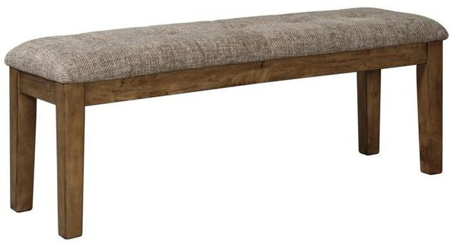 Benchcraft® Flaybern Large Light Brown Dining Room Upholstered Bench-D595-00
