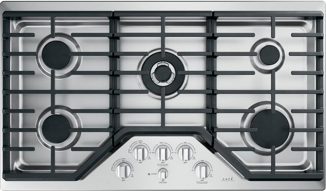 """Café™ 36"""" Stainless Steel Gas Cooktop-CGP95362MS1"""
