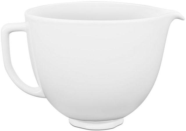 KitchenAid® White Chocolate 5 Quart Ceramic Bowl-KSM2CB5LW