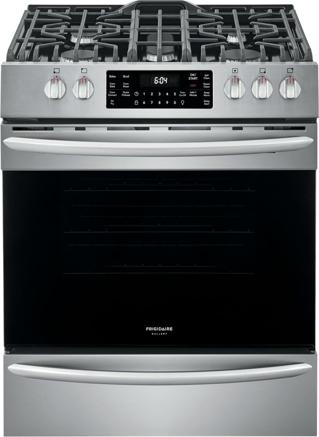 """Frigidaire Gallery® 30"""" Stainless Steel Free Standing Gas Range with Air Fry-FGGH3047VF"""