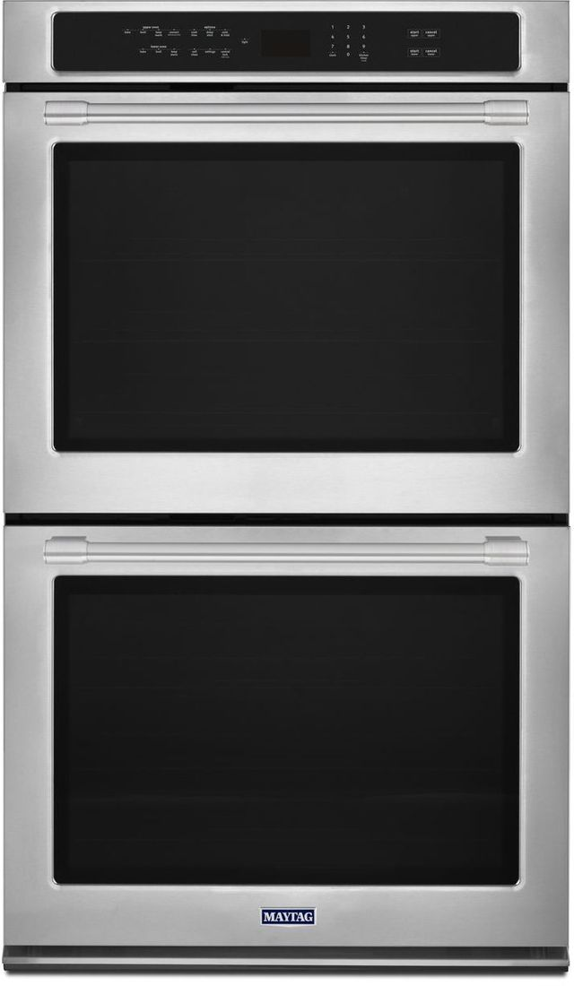 """Maytag® 27"""" Fingerprint Resistant Stainless Steel Electric Double Oven Built In-MEW9627FZ"""