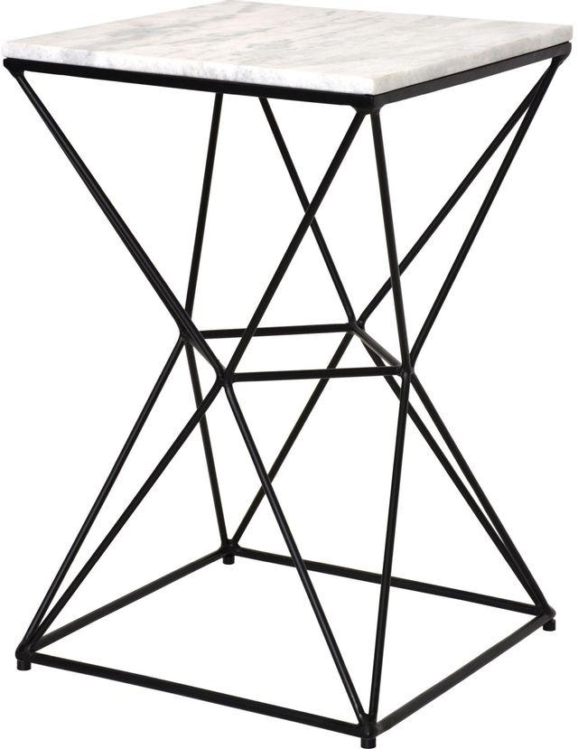 Table d'appoint carrée Symmetry, noir, Renwil®-TA263