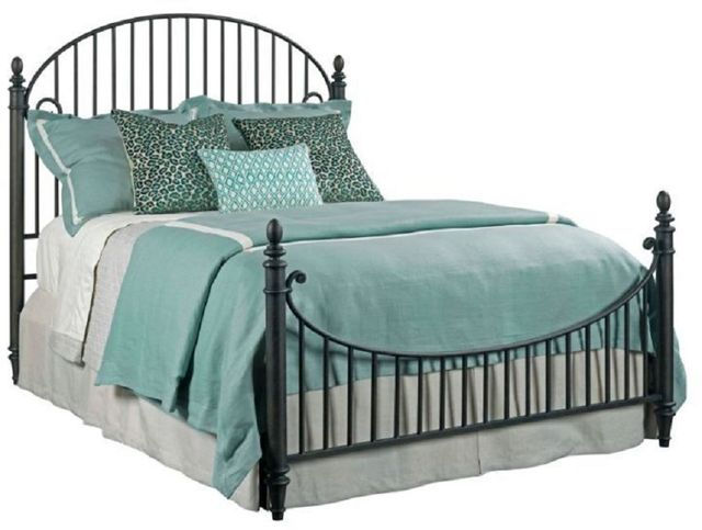 Kincaid Furniture Weatherford-Heather Catlins Black Queen Metal Bed-76-125P