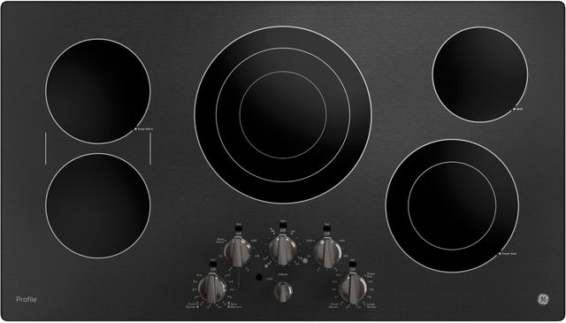 """GE Profile™ 37"""" Black Stainless Steel Electric Cooktop-PP7036BMTS"""