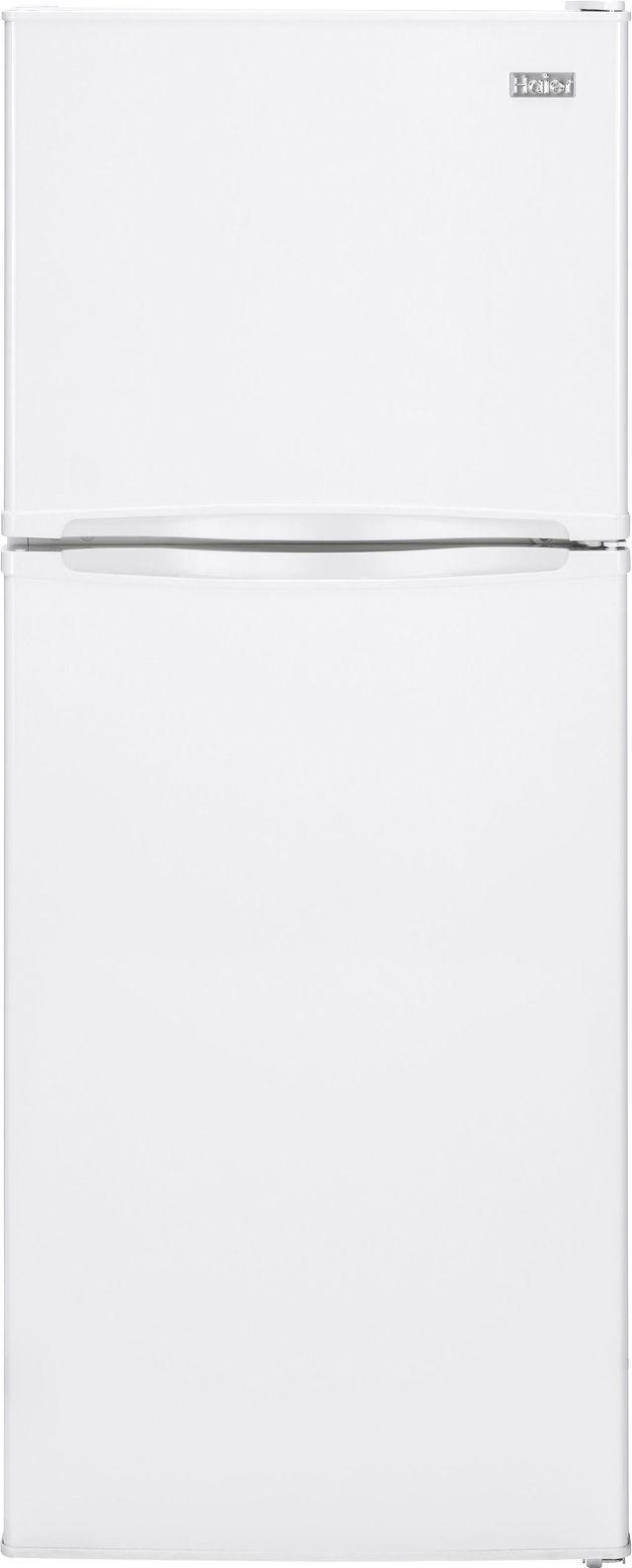 Haier 9.81 Cu. Ft. White Top Freezer Refrigerator-HA10TG21SW