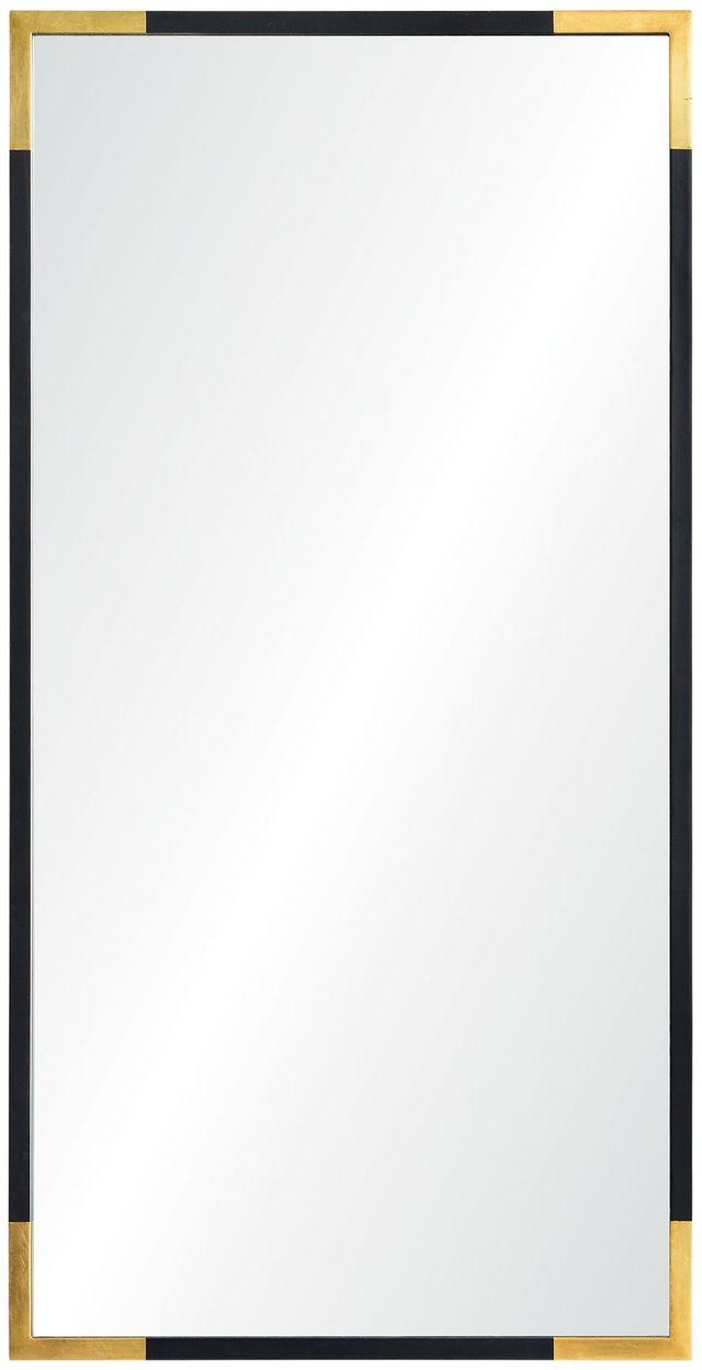 Miroir mural Osmond, feuille d'or/noir, Renwil®-MT1831