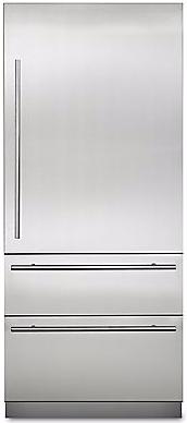 Viking® Virtuoso 6 Series 20 Cu. Ft. Stainless Steel Fully Integrated Bottom Freezer Refrigerator-MVBI7360WRSS
