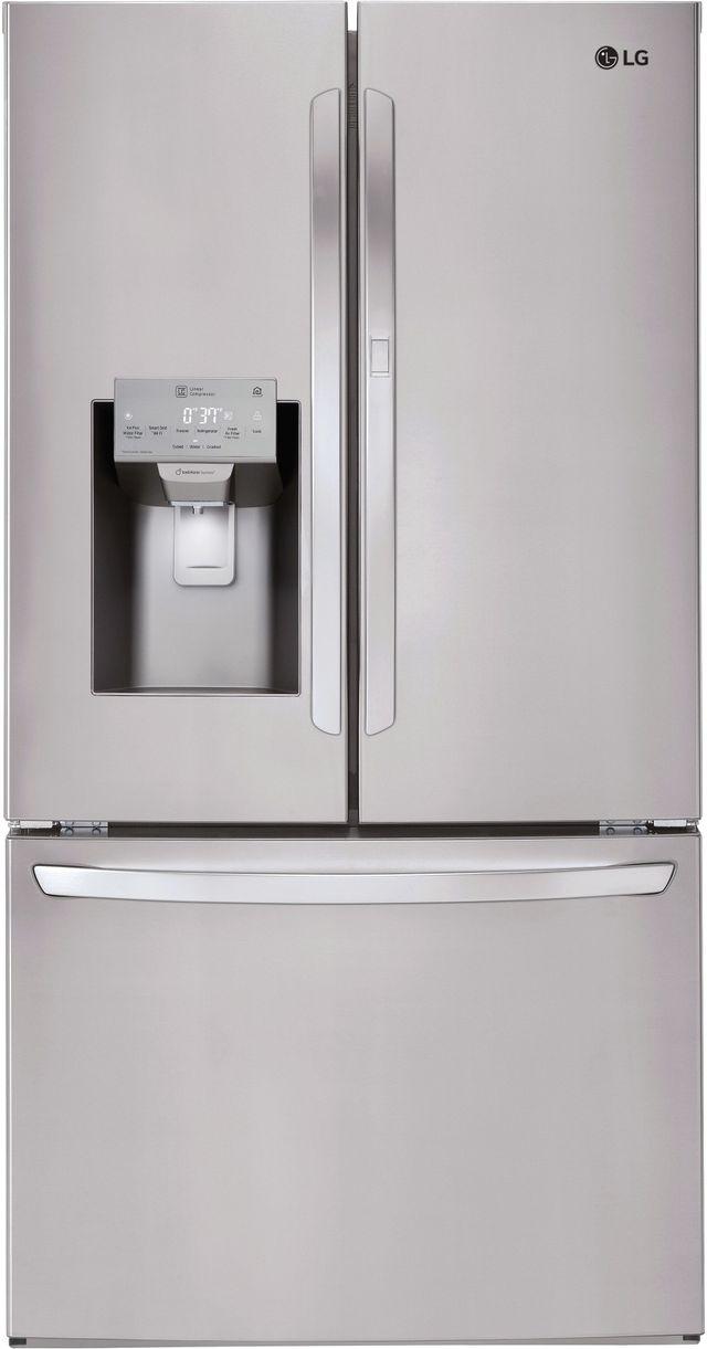 Réfrigérateur à portes françaises de 36 po LG® de 27,7 pi³ - Acier inoxydable-LFXS28566S