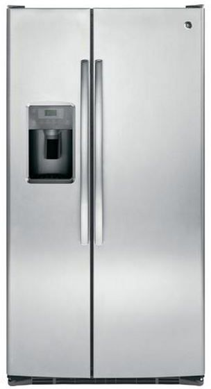 GE® 25.4 Cu. Ft. Side-by-Side Refrigerator-Stainless Steel-GSE25GSHSS