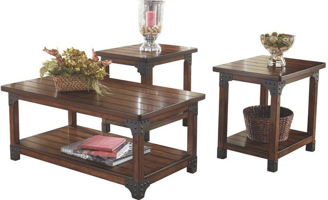 Signature Design by Ashley® Murphy 3 Piece Medium Brown Occasional Table Set-T352-13