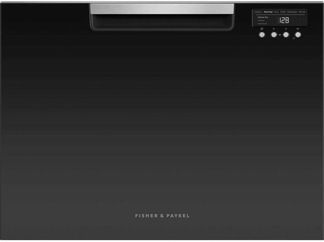 """Fisher & Paykel Series 7 24"""" Black with Stainless Steel Single DishDrawer™ Dishwasher-DD24SCTB9 N"""