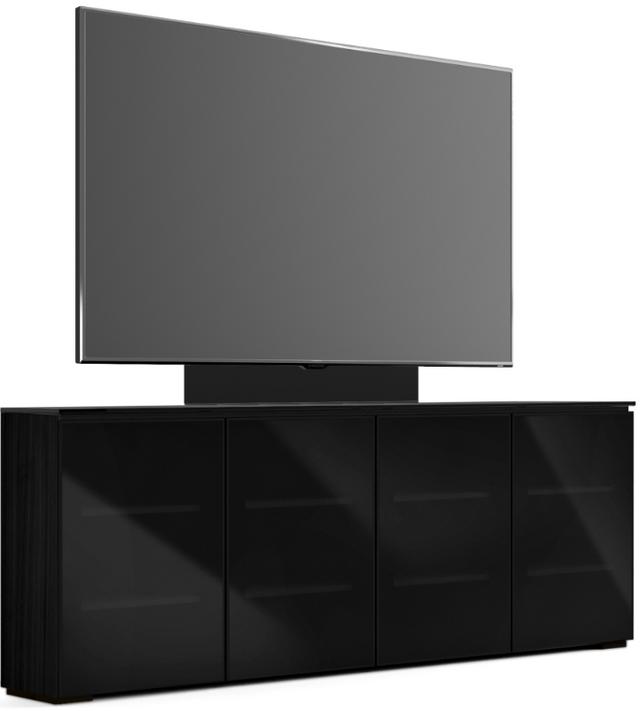 Salamander Designs® Chameleon Oslo Low Profile 347M Black Oak With TV Mount AV Cabinet-C1/OS347M/BG