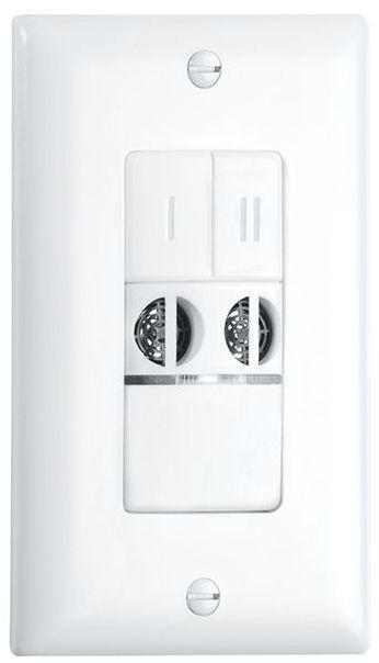 Crestron® STEINEL US WLS 2 Ultrasonic Dual Relay Wall Switch Occupancy Sensor-Light Almond-GLA-US-WLS-2-LA