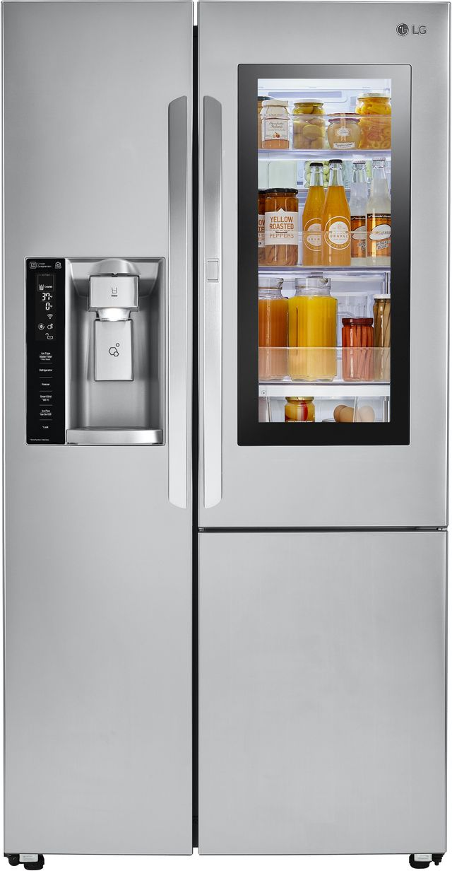 LG 21.74 Cu. Ft. Stainless Steel Counter Depth Side-By-Side Refrigerator-LSXC22396S