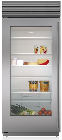 Sub-Zero® 23.3 Cu. Ft. Stainless Steel Built In Refrigerator-BI-36RG/S/TH-LH