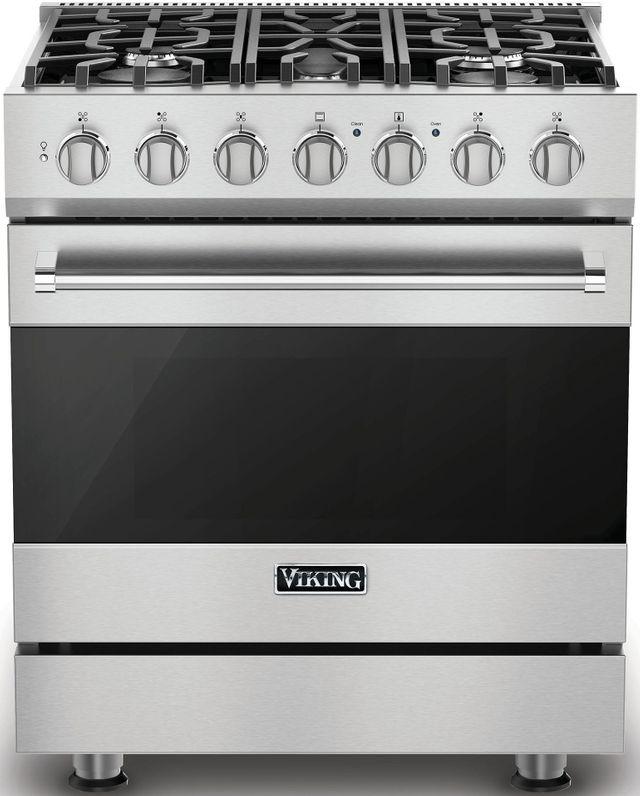"Viking® 3 Series 30"" Freestanding Gas Range-Stainless Steel-RVGR33025BSSLP"